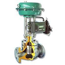 hcn气动笼式调节阀图片